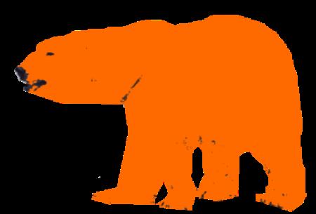 orange bjørn